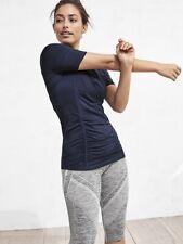 6386d57310390 Athleta SP S Petite Dress Blue Pacifica Contoured Swim Coverup UPF 50+ Top  Small