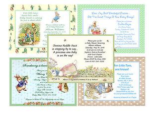 Beatrix Potter Peter Rabbit Shower Invitations Ebay