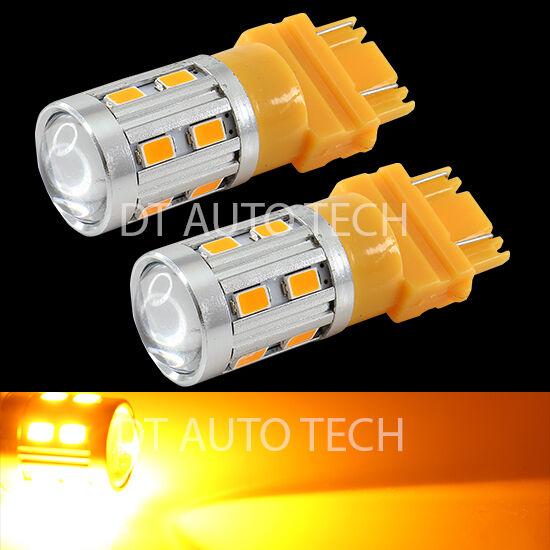 2X High Power 5630 Chip+Cree LED 3157/3156 Amber Yellow Turn Signal Lights Bulbs
