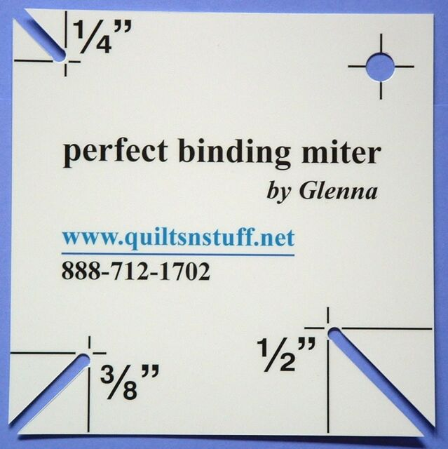 Perfect Binding Miter by Quilts 'n Stuff by Glenna. Mitered corners for Quilts