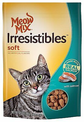 6.5 oz. Meow Mix Irresistibles Soft Cat Treats with Real Salmon
