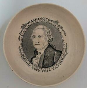 19th-Cent-TRANSFER-WARE-SAUCER-PRESIDENT-GEORGE-WASHINGTON-HIS-COUNTRYS-FATHER