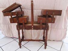 ancien meuble de nécessaire à couture-travailleuse en bois 1940-loisirs créatifs
