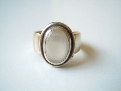 Massiver 925 Silber Ring Mit Ovalem Mondstein 10,8 G/rg 57 Regular Tea Drinking Improves Your Health Fine Jewelry Fine Rings