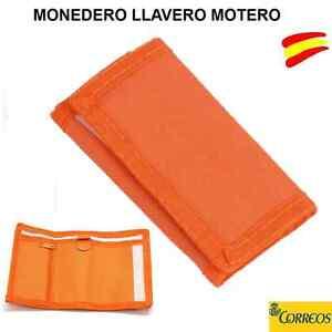 MONEDERO LLAVERO MOTERO - LLAVEROS PARA MOTO EN COLOR NARANJA - CARTERA -