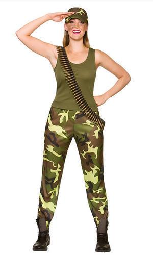 Armée Filles Femmes Costume militaire Sergent Guerre Soldat Femme Adultes Costume