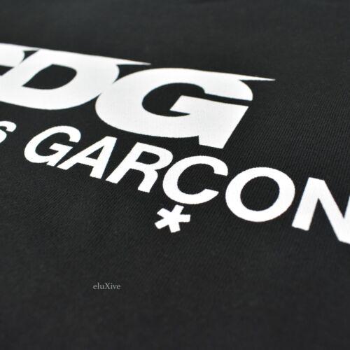Des Comme Cdg Negro Authentic Nwt Gds sudadera Xl Logo Hombres Garcons Crewneck aTSp5qw