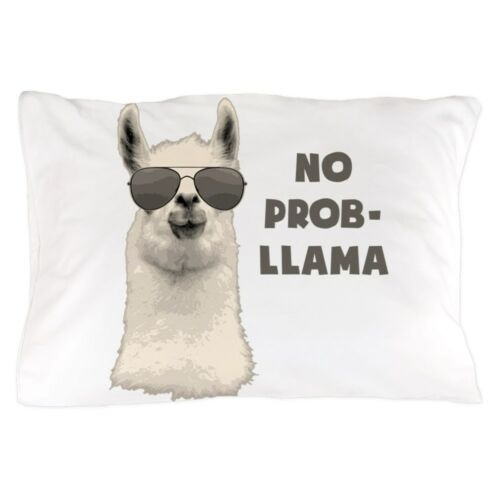 "20/""x30/"" 1231542133 CafePress No Problem Llama Standard Size Pillow Case"
