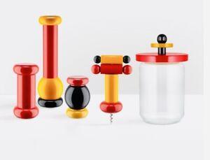 🔴 collezione completa ALESSI Twergi Design Ettore Sottsass new in box