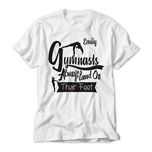 131261a4cad65 Details about Personalised Girl's Gymnastics Printed T-Shirt,Gymnast  Birthday /Christmas Gift