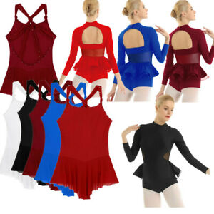 Women-Adult-Ballet-Dance-Dress-Gymnastic-Bodysuit-Leotard-Dancewear-Ice-Skating