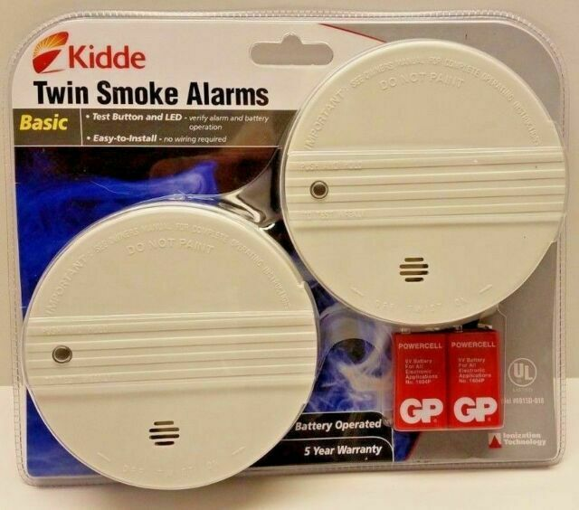 Kidde 0915d 018 Battery Operated Smoke Alarm 2 Pack No Wiring