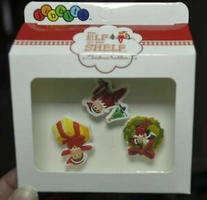 Crocs-Jibbitz-Elf-On-The-Shelf-Christmas-Charms-Present-Elf-Shelf-Wreath-New
