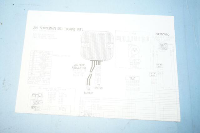 2011 Polaris Sportsman Oem 550 Touring Intl Wiring Diagram From Service Manual