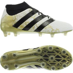 1fdfb464d4b Adidas ACE 16.1 Primeknit FG white black gold men s soccer cleats ...