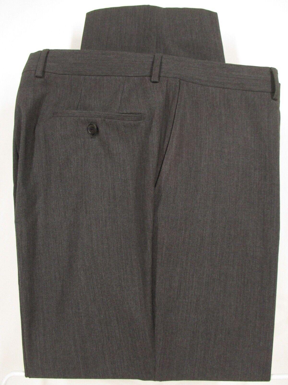 Hugo Boss James Brown Mens Grey Flat Front Wool D… - image 1
