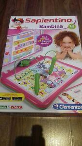 Alerte Sapientino Bambina 3/6 Ans En Italien Clementoni Brand 200 Quiz-afficher Le Titre D'origine Bien Vendre Partout Dans Le Monde