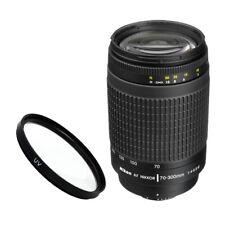 Nikon AF Zoom-NIKKOR 70-300mm f/4-5.6G Lens for Nikon DSLR Camera + UV Filter!