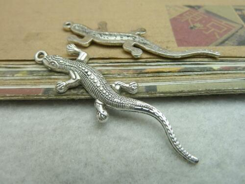 10//30pcs 56x12mm Antique Silver  Lovely Filigree A lizard Charms Pendant