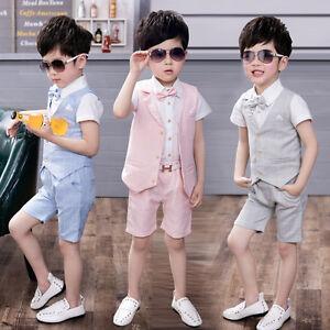 Image Is Loading New 4pcs Formal Toddler Children Boy Kid Short