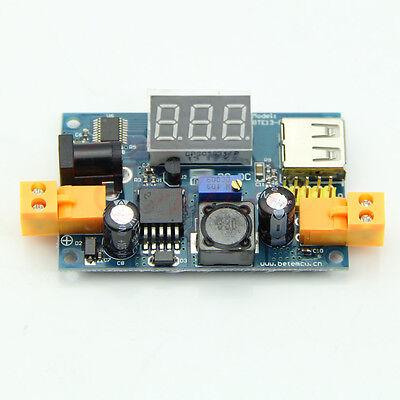 LED Voltmeter+LM2596 DC-DC Adjustable Step-Down Power Converter Module+USB Port