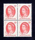 1965 ***MUH*** 5d RED - Queen Elizabeth II - BLOCK of 4