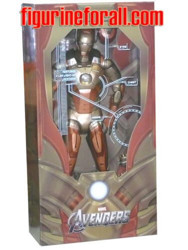 Neca AVENGERS IRON MAN MIDAS GOLD ARMOR XXI 18 1/4 Scale W/LED Figure Marvel
