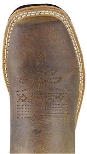 Nuevo  Smoky Mountain Mountain Mountain botas para Hombre Western Cowboy-Dedo Del Pie Cuadrado Cuero Marrón - b8e465