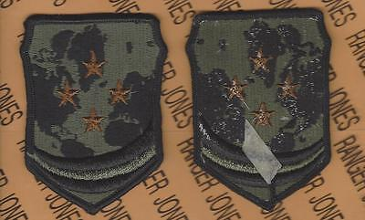US Army Caribbean Defense Command OD Green /& Black BDU patch