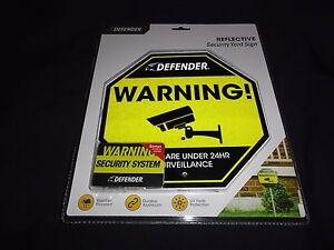 Warning! - Security Yard Sign, Reflective