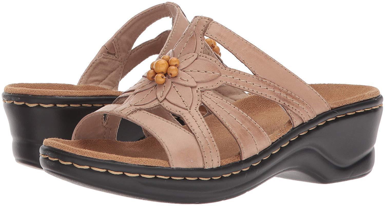 CLARKS Women's Lexi Myrtle Sand leather Sandals 26134220 (Stock)