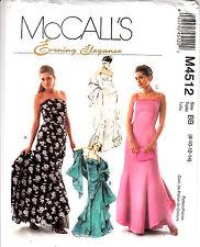 Wedding Gown Bridal Bridesmaid Fit Flare Ruffles McCalls Pattern 4512 Sz 8-14