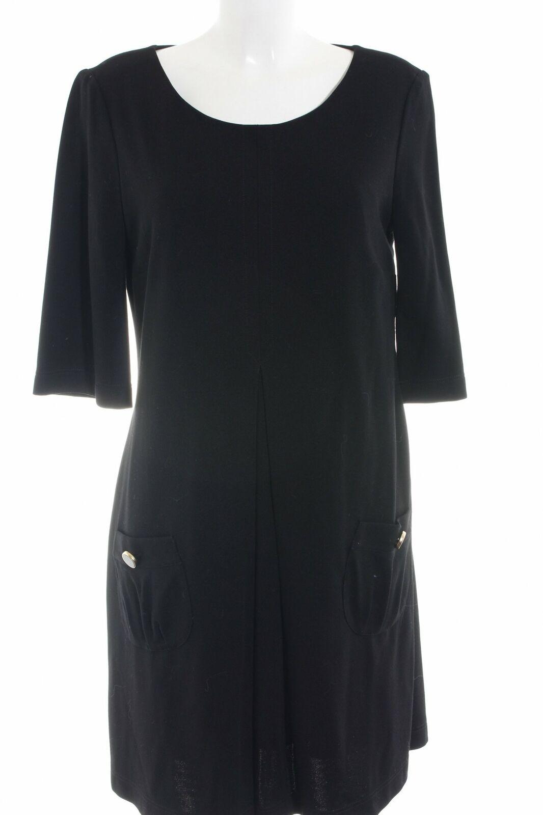 SET Langarmkleid schwarz klassischer Stil Damen Gr. DE 42 Kleid Dress
