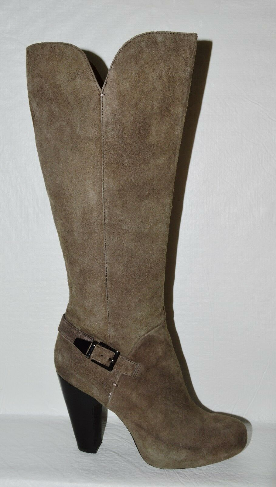 SOFFT NEW SZ 7 M TAUPE SUEDE LEATHER KNEE HIGH BOOTS