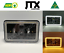 "thumbnail 1 - JTX, 1 Pair, Black LED Headlights, 4x6"", White Halo, Flashes Amber"