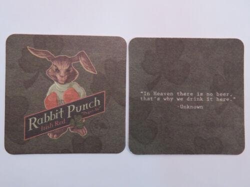 Ram Beer Coaster ~^~ BIG HORN Brewing Rabbit Punch Irish Red Ale ~ Lakewood WA