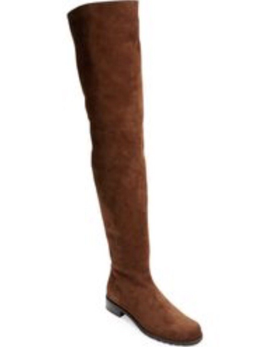 Stuart Weitzman HILO Walnut Brown Suede Over The Knee Boots Thigh High Sz 6 NEW
