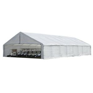 Shelterlogic 30x50 canopy white replacement cover for 2 3 for 18x40 frame