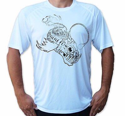 Hook Fish Skull Bones Short Sleeve UPF 50 T-Shirt Fishing Sport UV Protection