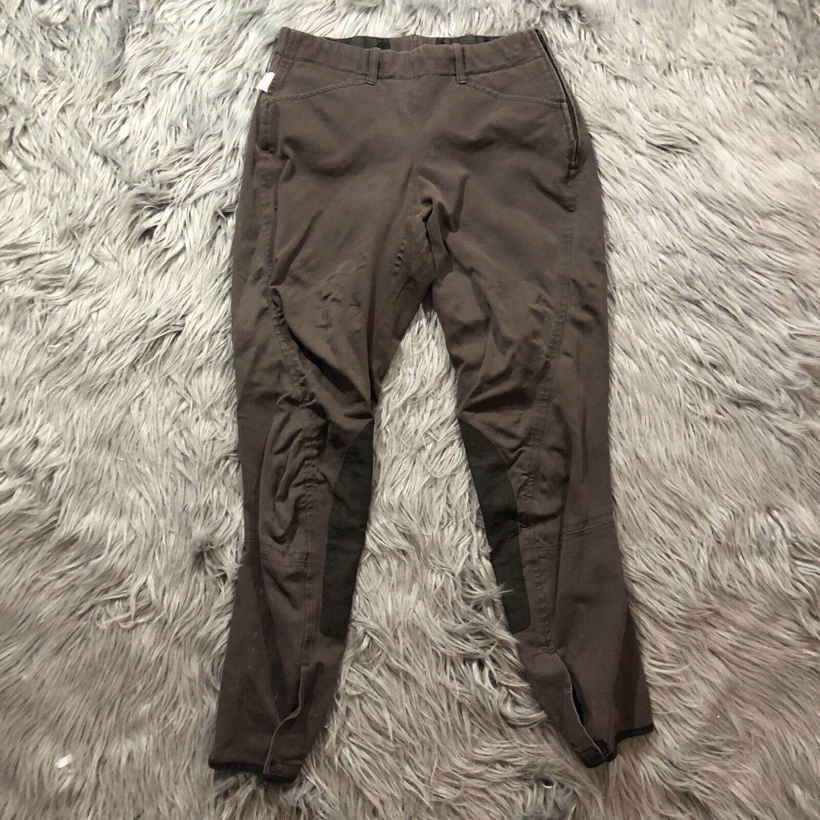VTG The Tailored Sportsman English  Riding Pants Sz 26 Breeches Brown Made In USA  no tax