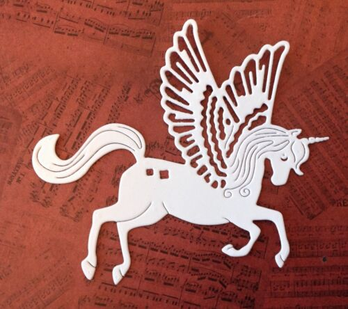 white Unicorn Die Cuts Intricut pack of 8