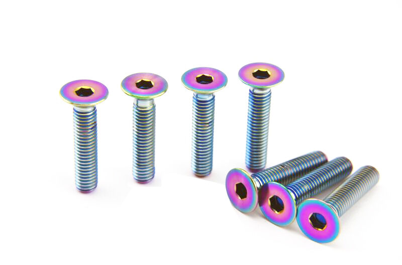 4pcs Titanium Countersunk Bolts Screws Fasteners M6 x10//15//20//25//30//35//40//55mm