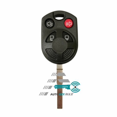 4 Button Remote Key Case Shell Keyless Replace Uncut HU101 For Ford Edge Escape
