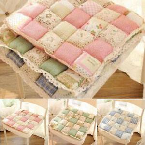 FJ-EG-Wear-Resistant-Cottage-Floral-Rose-Quilted-Cotton-Chair-Seat-Pad-Mat-Cus