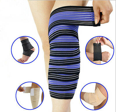 Elastic  Wrist Knee Ankle Elbow Calf Arm Support Wrap Knee Band Brace AUGR