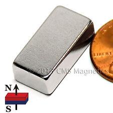 "N45 Neodymium Magnets 3/4x3/8x1/4"" NdFeB Rare Earth Rectangle 100-Count"
