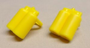 x2 NEW Lego Minifig Yellow Airtanks Space Minifigure Parts