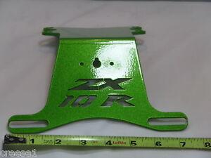 KAWASAKI-zx-10r-ZX10-NINJA-FENDER-ELIMINATOR-Soporte-De-Matricula-Verde-NTS-2006