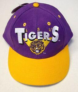 Nwt Ncaa Lsu Tigers Boys Logo 7 Vintage Snapback Cap Hat