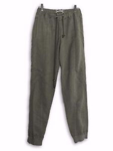 6d4b43bc7 Details about Robert Geller FW13 Khaki Tencel Flight Pants Size 44
